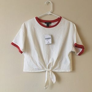💗NWT💗 Forever 21 Cropped Front Tie T-shirt